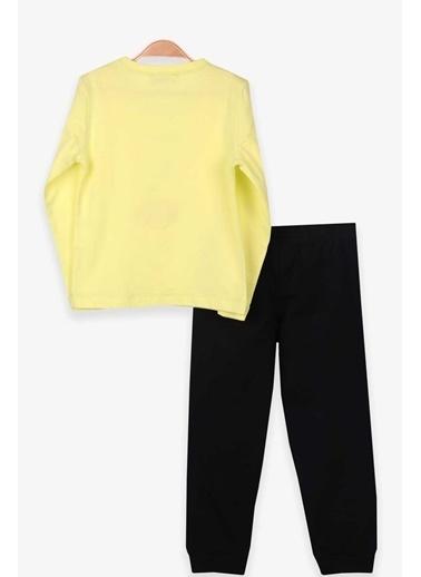Breeze Kız Çocuk Pijama Takımı Balerin Baskılı Fıstık Yeşili (3-8 Yaş) Yeşil